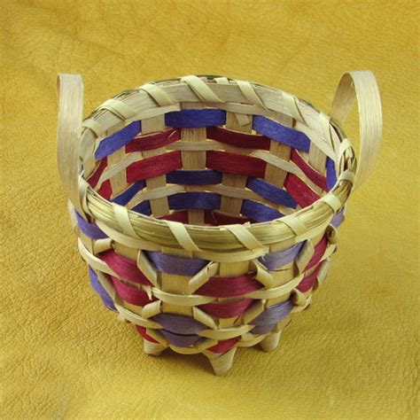 American Handmade Crafts - handmade indian basket 6 mesa farm american
