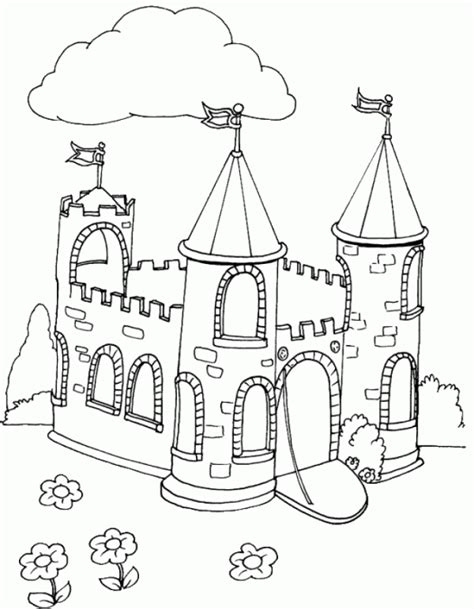decorated house coloring pages coloring castle flag pages 529036
