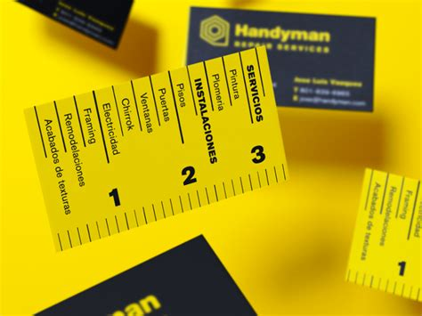 Home Design Business Names handyman business card business card design inspiration