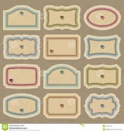 Antique Labels Template by 7 Blank Vintage Label Vector Images Free Printable Blank