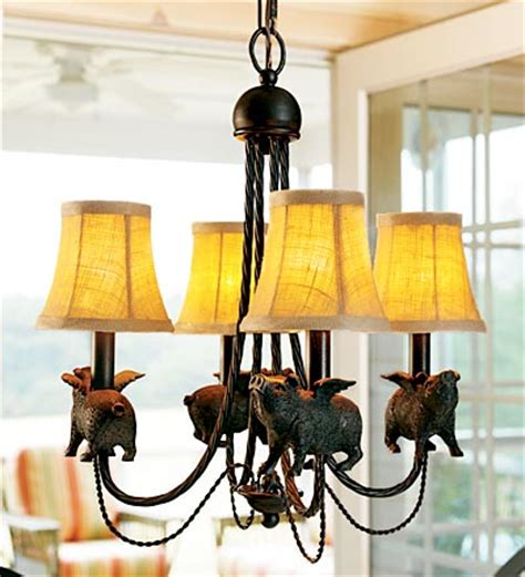 This Ain T New York When Pigs Fly Over Your Kitchen Table Flying Pig Chandelier