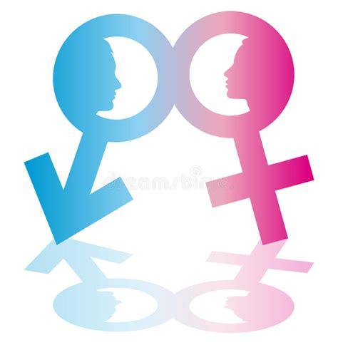 imagenes simbolos hombre y mujer hombre y mujer del s 237 mbolo con las caras ilustraci 243 n del