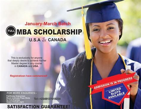 Mba Scholarship In Canada by Mba Scholarship In Usa And Canada Education Nigeria