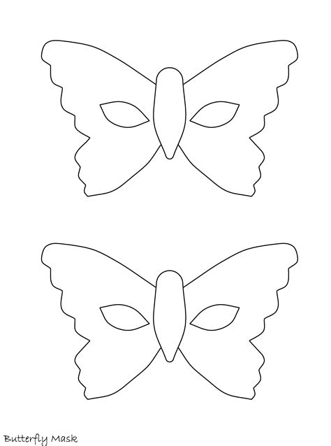 mask templates printable 7 best images of mask patterns printable butterfly