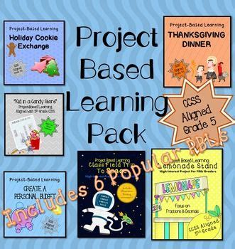 Project Based Learning Math Starter Pack 5th Activities