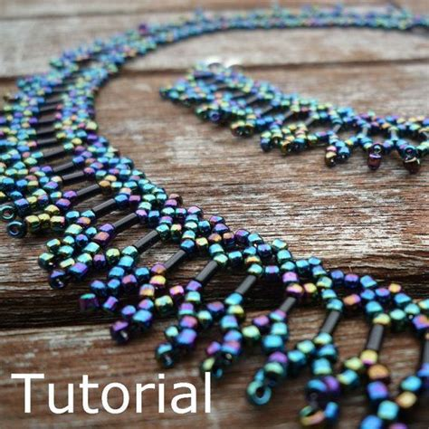 beadwork simple simple necklace beadwork pattern tutorial instant by