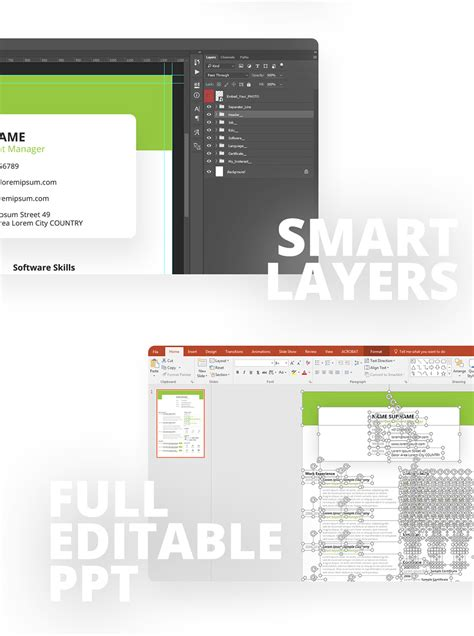 format file powerpoint free beautiful resume cv design template psd ppt file