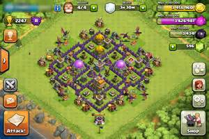 Clash of clans war hybrid town hall level 7 2015 town hall 7 defense