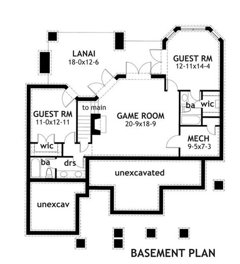 bungalow floor plans with basement merveille vivante small 2259 3 bedrooms and 2 5 baths the house designers