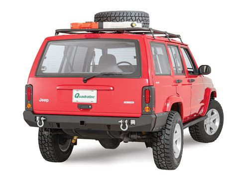 jeep cherokee rear bumper jcr offroad crusader rear bumper for 84 01 jeep cherokee
