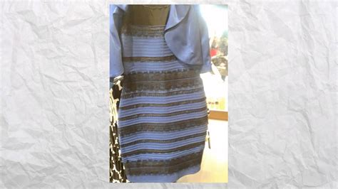 what color is this image what color is the dress take the test