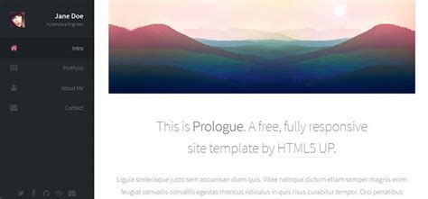 sidebar layout html css 60 free responsive html5 web templates