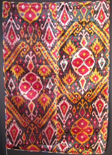 Uzbek Ikat 19th Antique Uzbek Ikat Pinterest | uzbek ikat velvet panel 19th the arts scene in san