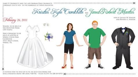 paper dolls wedding invitations 4 awesome interactive save the dates to get your wedding