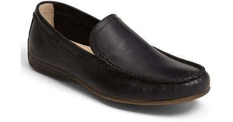 lewis loafers frye lewis venetian loafer in black for lyst