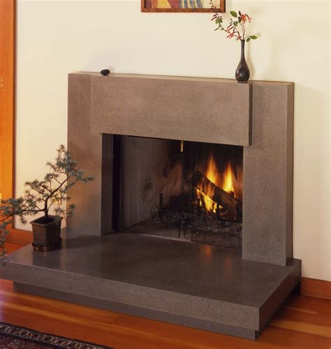 fireplace surrounds modern custom contemporary polished concrete fireplace surround
