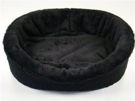 black dog bed bolster dog beds for large dogs