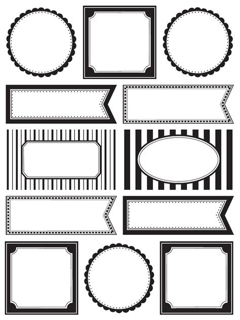 black and white label templates free editable printable labels popular sles templates