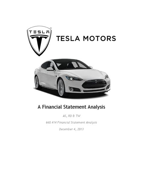 tesla motors analysis tesla motors a financial statement analysis