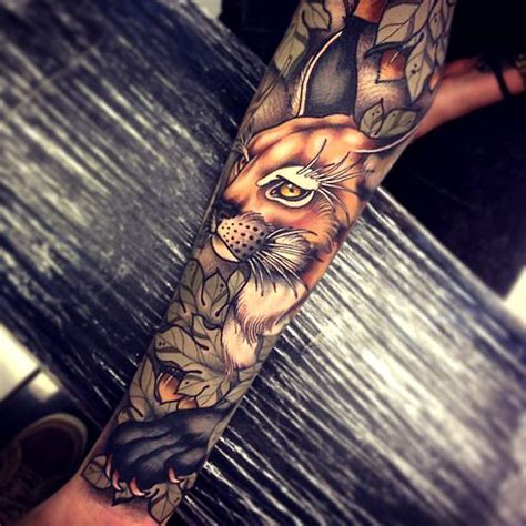 animal tattoo artists brisbane sleeve flower and toms on pinterest