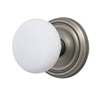 White Porcelain Door Knobs by You Need To Open Doors The Renovation