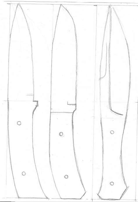 knife blank pattern knife templates