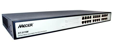 Switch Hub 24 Port mecer 24 port 10 100tx ethernet switch hub w rackmount kit mecer