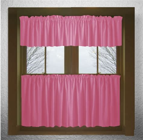 fushia pink curtains solid hot pink fuchsia kitchen tier cafe curtains