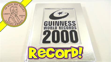 guinness world records 2000 0851120989 guinness world records book 2000 millennium edition youtube