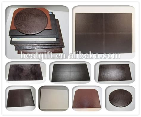 kitchen table mat brown genuine cow leather cut corner kitchen table mat