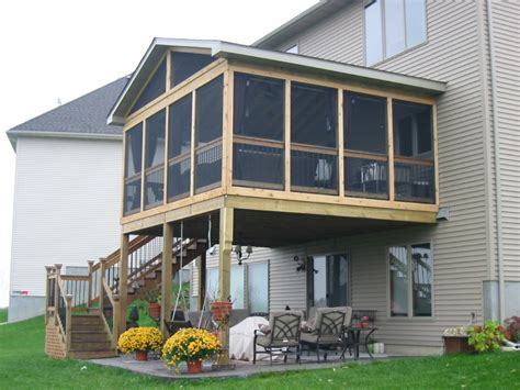 screened porch  deck  important considerations