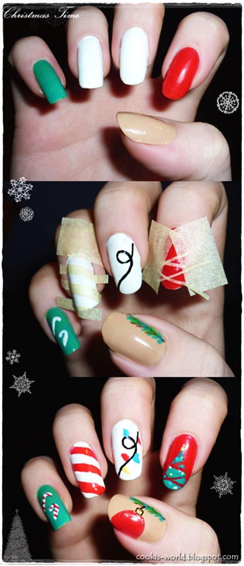 Christmas Nail Art Tutorial Videos | cooki s world christmas nail art tutorial