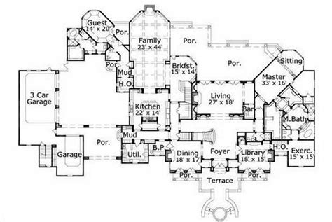 executive home floor plans luxury mansion floor plans