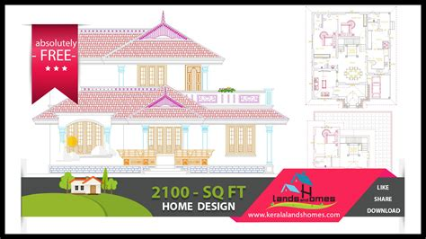 kerala home design free download 2100 sqft low budget free kerala home plans free