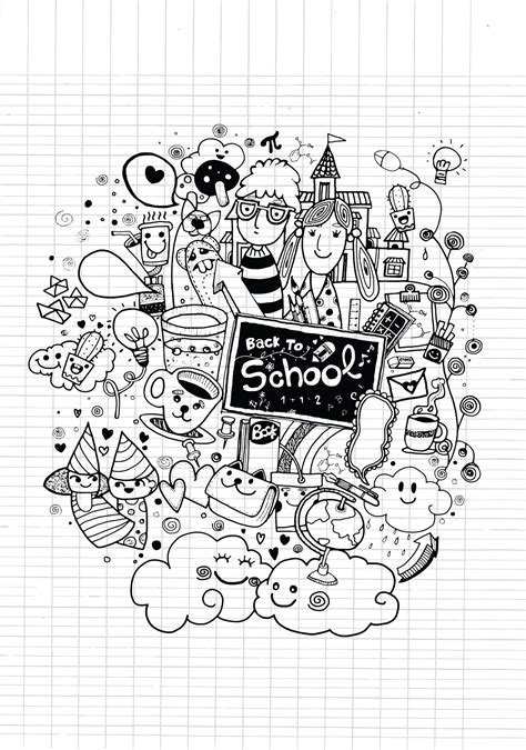 usborne doodle drawing colouring book doodle back to school by 9george doodling doodle