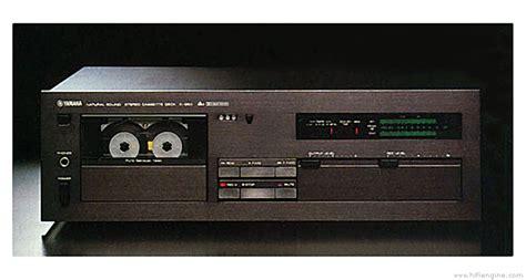 yamaha   manual stereo cassette deck hifi engine