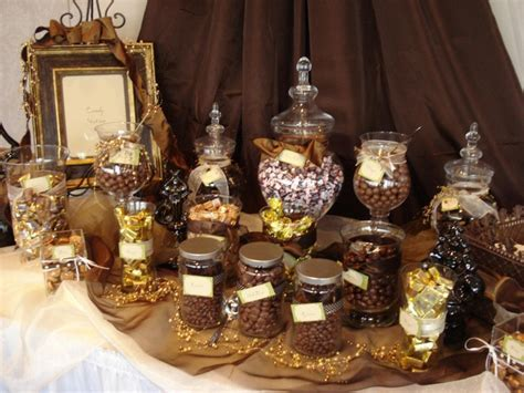 Chocolate Candy Buffet in Brown   Gold   Chocolate & other