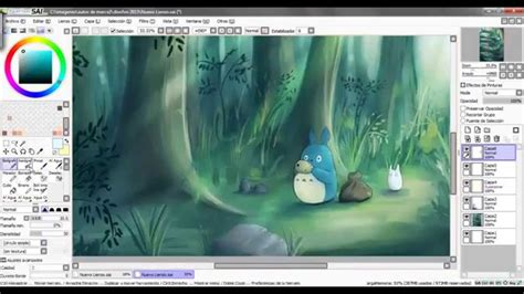paint tool sai speed drawing speed painting paint tool sai totoro