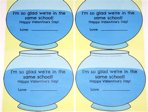 Fish Bowl Card Template by S Day Our In