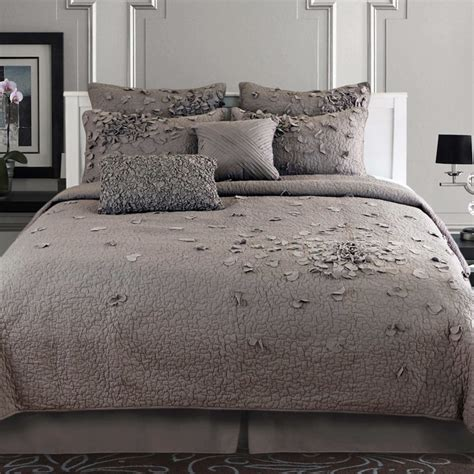 grey bedding set bedroom black and gray comforter with sham on grey bed