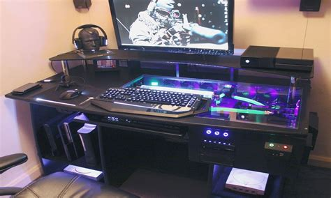 Computer Desk For Gaming by Desk Computer Ultimate Gaming Pc Custom Desk Build
