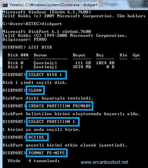 diskpart format fs exfat kingston raw dosya sistemi sorunu donanım tnc tr