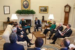president obama and his ranking cabinet members hold