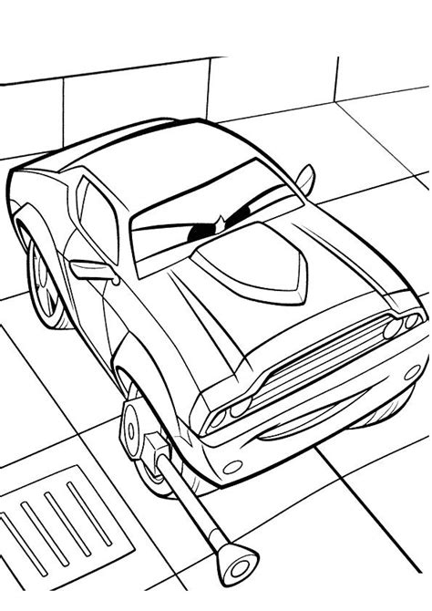 cars 2 coloring pages rod torque redline free rod redline coloring pages