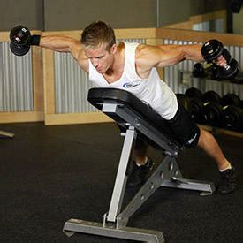 reverse incline bench reverse flyes exercise guide and video