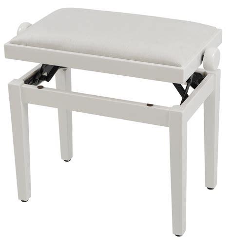 piano bench white grenada bg 27 piano bench high gloss white