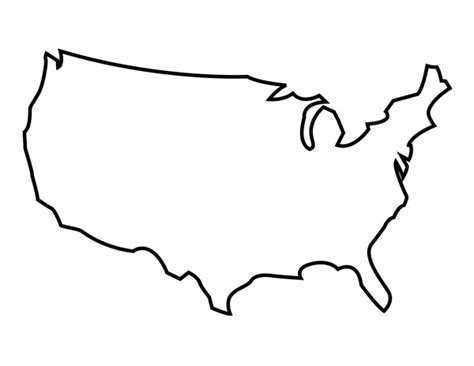 usa map outline clip outline of the u s a clipart best