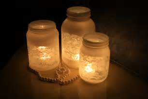 Jar Decoration by Equisite Candle Light For Rustic Decorated Jars With