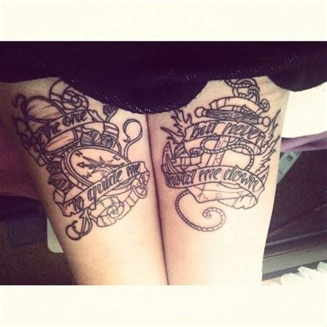 small upper thigh tattoos 45 best banner scroll images on