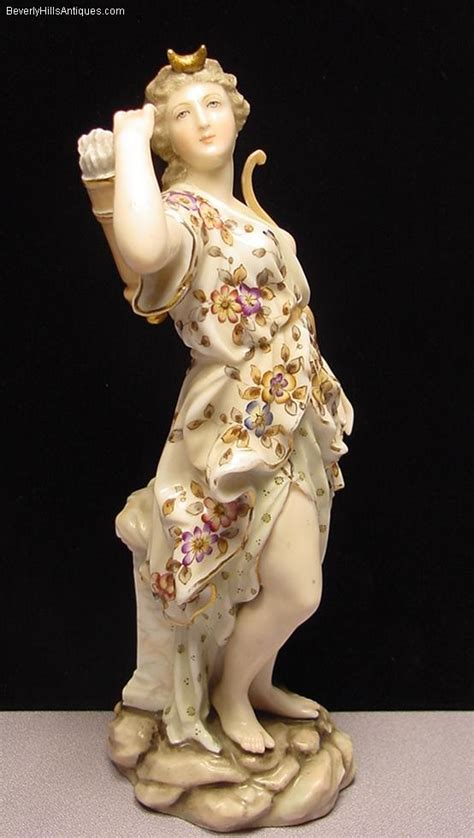 beautiful antique volkstat porcelain figurine of diana for